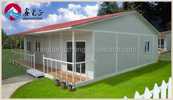 fast construction steel frame pre made houses