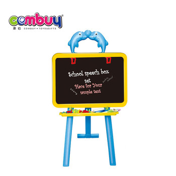 Plastic double sided stand learning drawing board for kids
