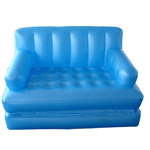 PVC flocking inflatable 5 in 1 sofa bed