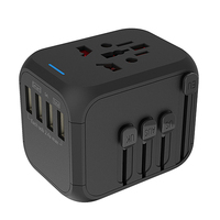 Premium promotional gifts US UK EU AU plugs universal travel adapter with usb port