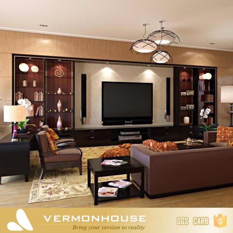 2018 Hangzhou Vermont Modern Design Led Light TV Cabinet Stand Living Room  Furniture Showcase