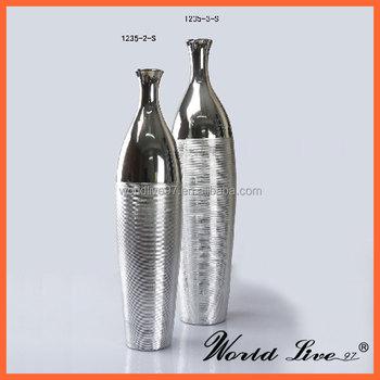 1235 G Promotional Luxury Modern Silver Horizontal Stripes Ceramic
