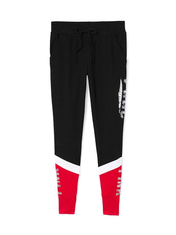 Get Quotations · Victoria s Secret PINK Bling Collegiate Skinny Sweatpants  Black a1cead65f