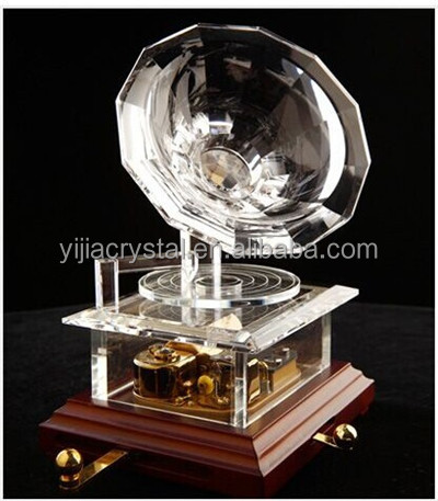 Wedding favors Artificial K9 crystal custom music box movements
