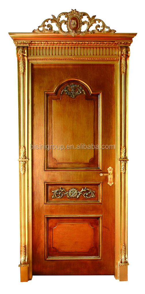 Exquisite French Rococo Style Solid Wood Door Painted in Antique Surface  BF11-12241c - Exquisite French Rococo Style Solid Wood Door Painted In Antique