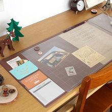 Корейский кавайный конфетный цвет, многофункциональный офисный коврик, ежедневник, органайзер, Настольный коврик для хранения, обучающий к...(Китай)