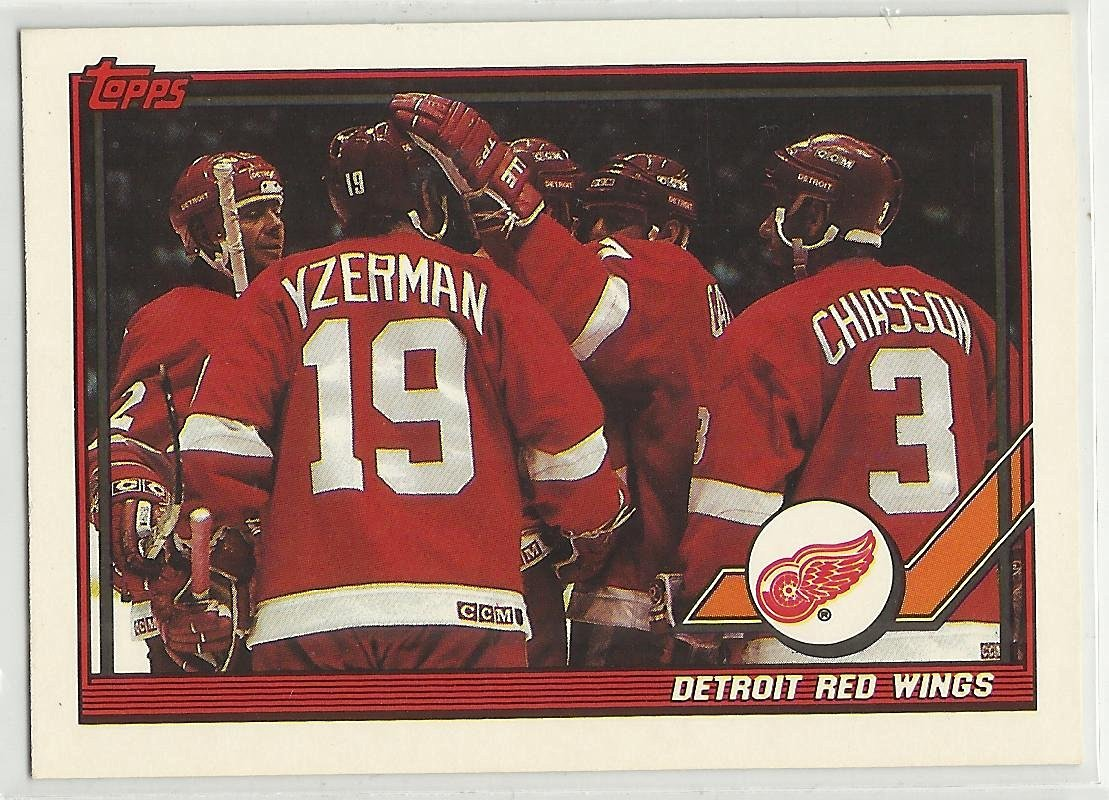 950a2ee39ca Get Quotations · Red Wings Team 1991-92 Topps NHL Hockey Card  60 Detroit  Red Wings