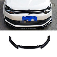 3PCS/Set Front Bumper Lip Spoiler For Volkswagen VW Polo 2014 2015 2016 Head Chin Shovel Protector