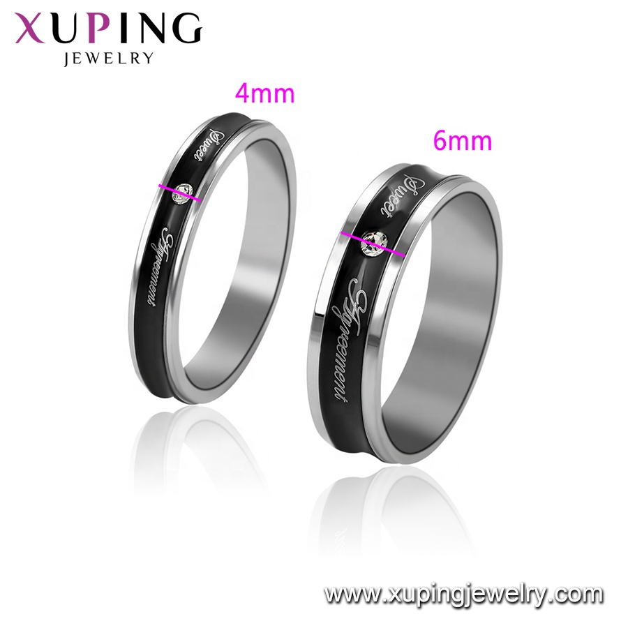 R-135 xuping wholesale stainless steel women rings,fashion zircon ring