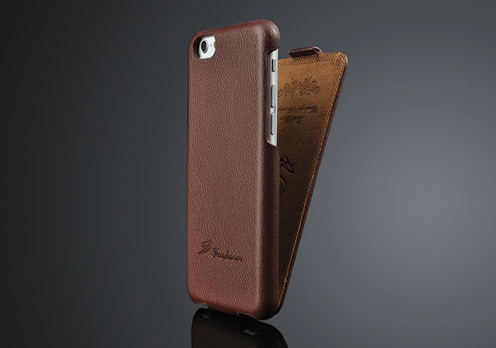 Vertical pouch leather case for iphone6 plus, flip case cover pouch,flip leather case cover for iphone6 plus