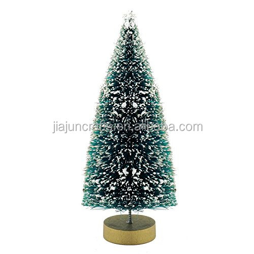 30cm Miniature Medium Snow Effect Christmas Table Sisal Tree