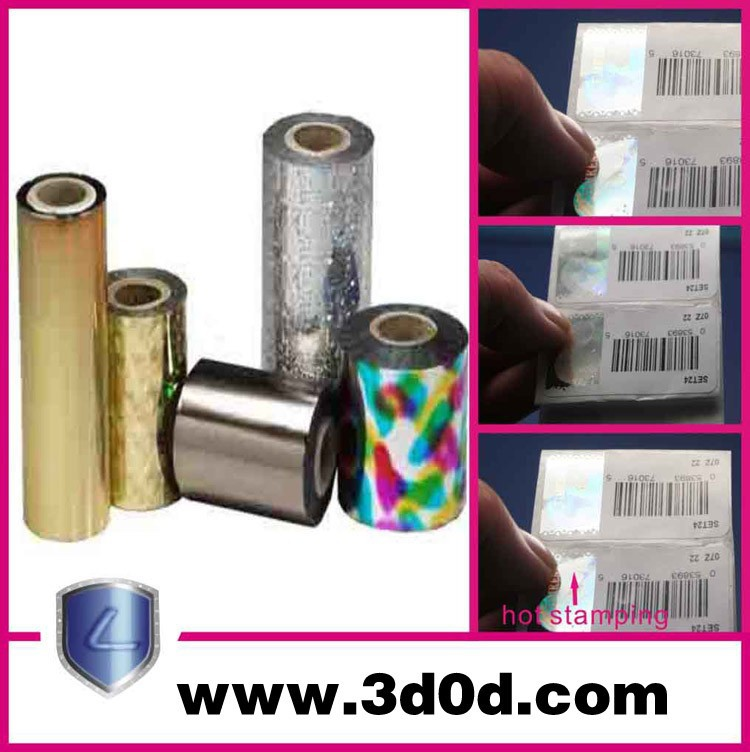 Iridescence color hot stamping foil for fabric