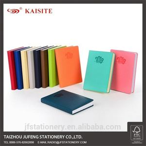 colorful soft cover custom pu notebook with book mark