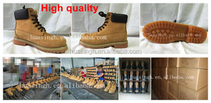 women and men work force used steel toe safety boots with nubuck leather