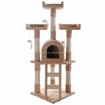 Cat Tree House/Scartching Post Towers, Pet Toy Ball and Rope and Mouse, Multi Level Condo
