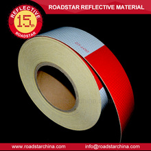 hot sale dot c2 red and white conspicuity High intensity grade reflective tape for trucks