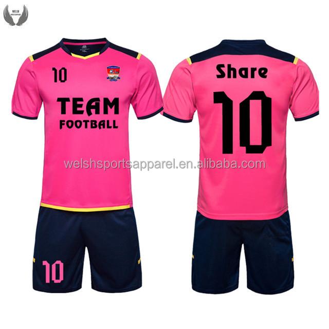 Conjunto Completo De Alta Qualidade Ajuste Personalizado Rosa Uniforme Do  Futebol - Buy Rosa Uniforme Do Futebol 55b1985047ff7