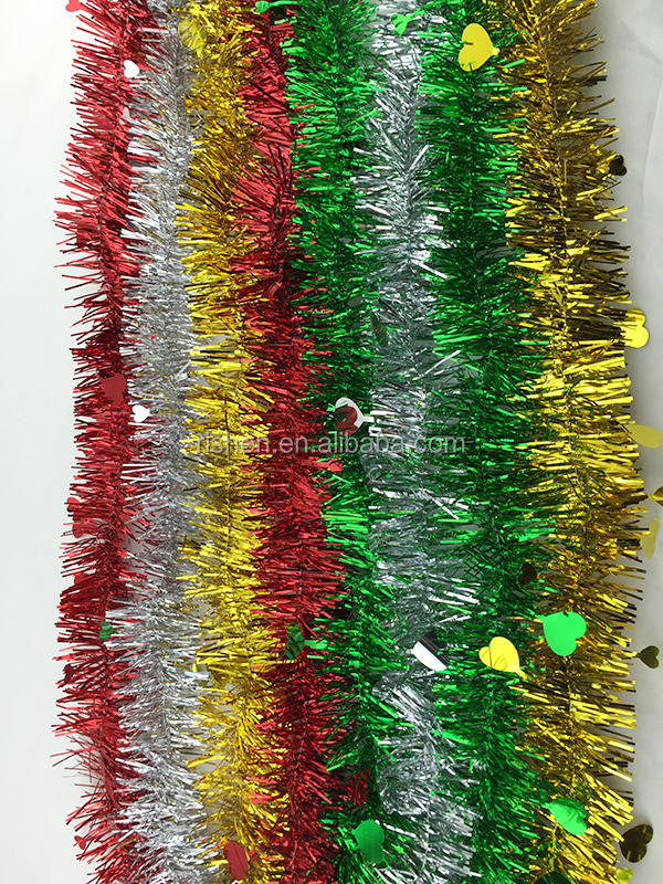 Christmas tree decoration tinsel garland,Fashionable Christmas Tinsel