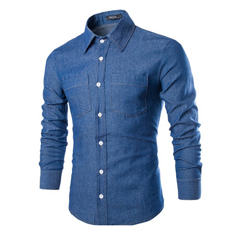 13e57dd1f3e Buy 2015 Mens Denim Shirt Brand Casual Fashion Slim Fit Long Sleeve Autumn  Camisas Social Masculina Jeans Shirts ZHY1891 in Cheap Price on  m.alibaba.com