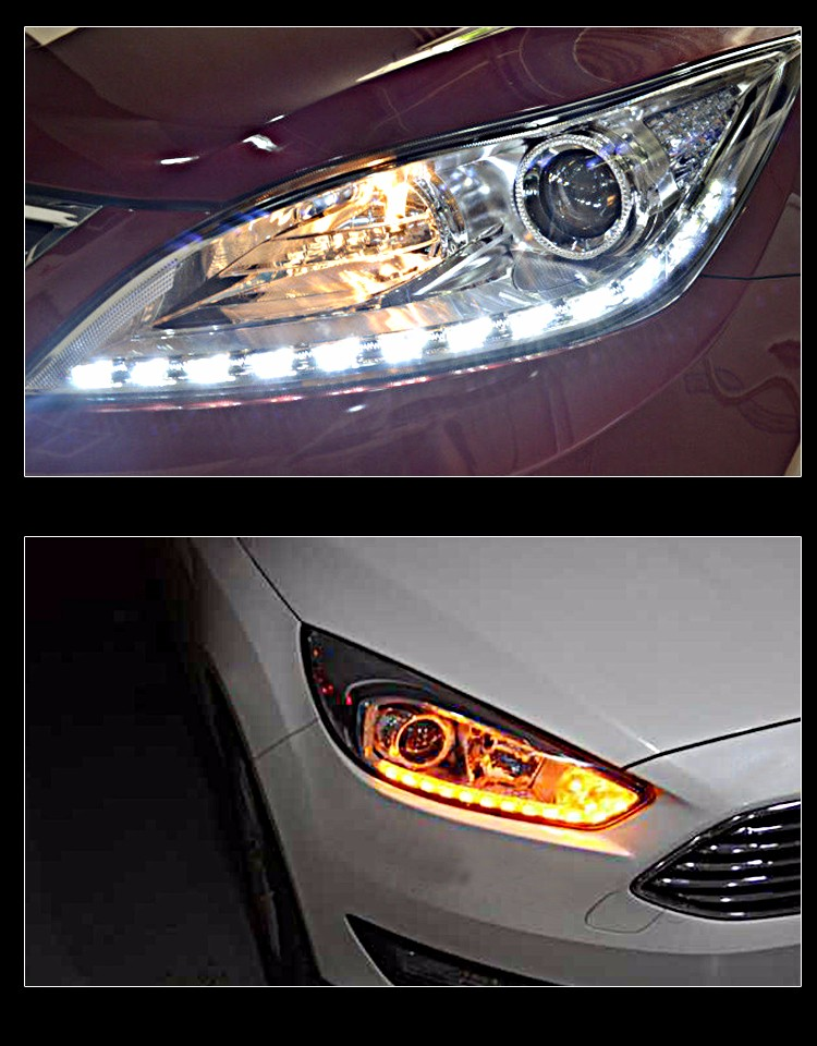 Flexible crystal led angle eye light car led daytime running light drl car led with water flow turn signal light