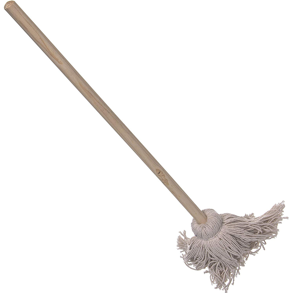house cleaning tools cotton yarn mop with wooden pole