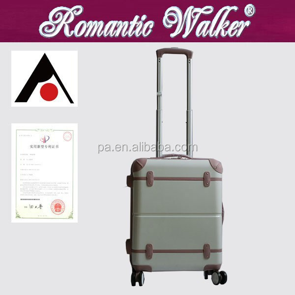 Old Fashion Style Trunk Suitecase Trolley Luggage/Vintage Suitcase ;ABS/PC trolley luggage sets