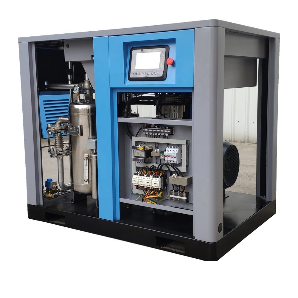100% oil free screw air compressor for painting industrial Air request oil free, dew point-23 degree