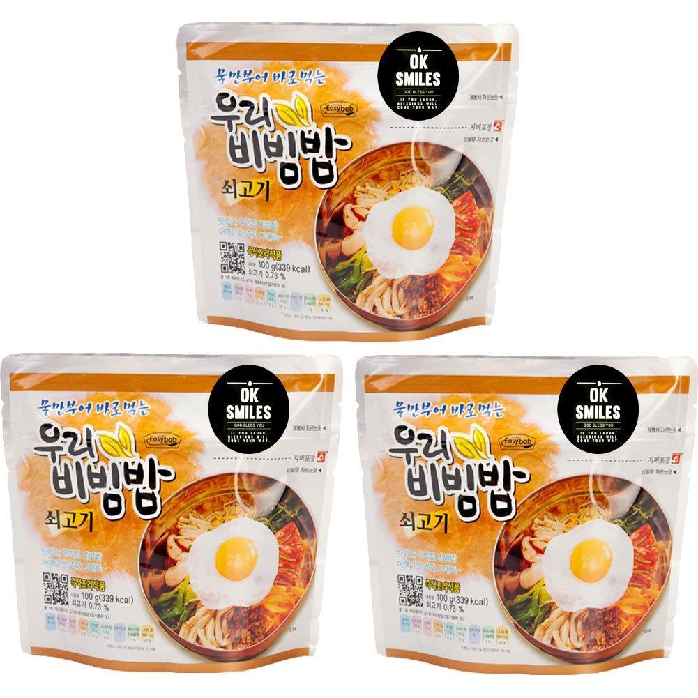 Korean Military MRE Bibimbap Spicy Beef Rice Food 100g/1pack , MRE Meals Ready to Eat Pack of Bibimbap Korean Mixed Rice Bowl