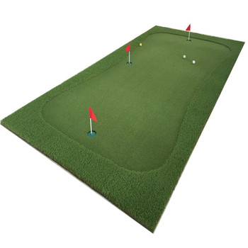 Indoor Putting Green Double Hole In Practice Golf Putting Mat - Buy ...