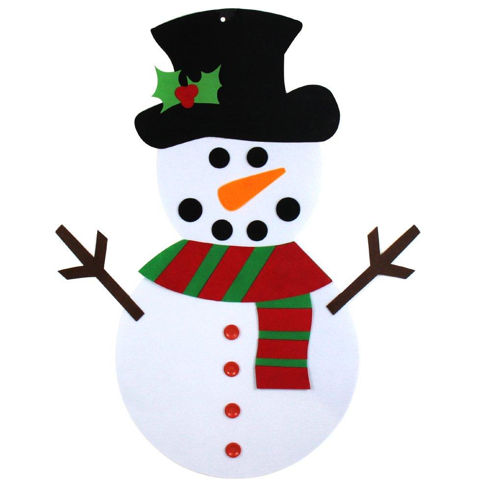 d641d5335149e Get Quotations · Yeahbeer Felt Christmas Snowman for Kids- 3Ft