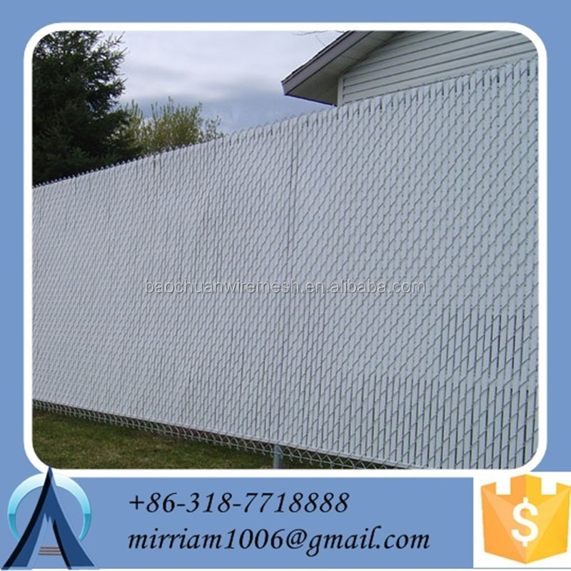 Used Galvanized PVC Coated <strong>Mesh</strong> Size 50x50mm Sports Court Chain Link Fence Privacy Slats With Factory Price