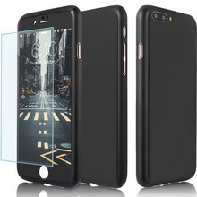 360 full cover phone case with tempered glass screen protector For iphone and android
