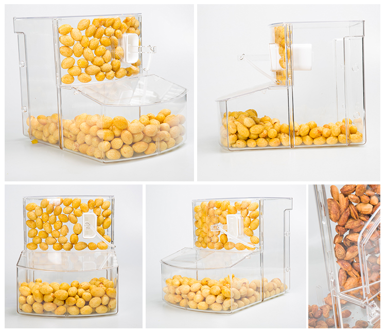 wholesale stocked bulk nuts display dispenser with scoop