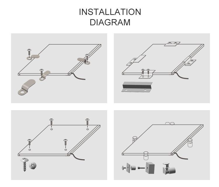 Edgelight SMD2835 LED lighting acrylic sheet light guide panel