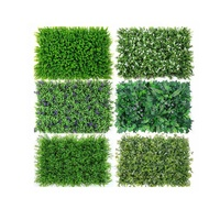 RESUP 40*60cm 25 Designs Green Wall Artificial Grass Panel Green Flower Wall Mat for Decoration