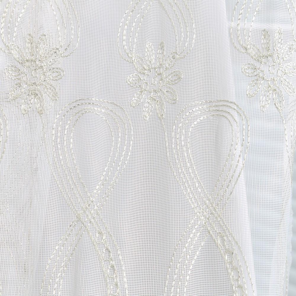 Royale beauté main brodé blanc sheer dentelle rideaux pour salon ...