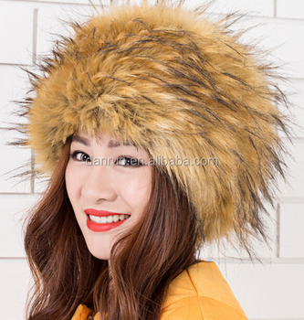 350471045 Fashion Fox Faux Fur Russian Hats With Satin Lining - Buy Ladies ...