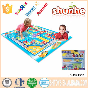 Funny kids play chess mat educational ludo chess game mat