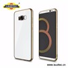 Electroplating Metallic TPU case for Samsung S8 Metal frame silicone back case
