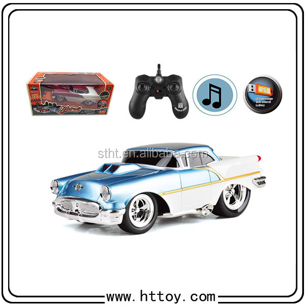 New pattern Vintage car Boy toys 6CH RC Big Foot Car 1:16, refitted car With lights and music