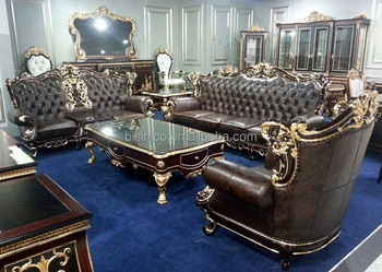Bisini High End And Cly Leather Sofa Set Royal Living Room Genuine Furniture
