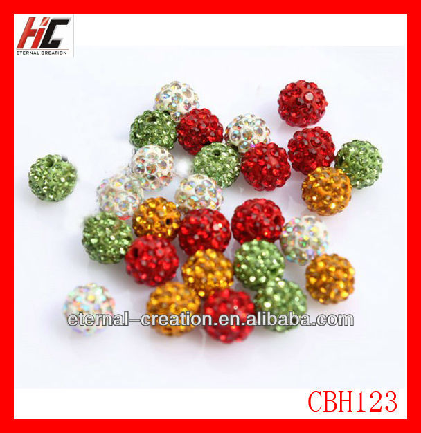 rhinestone beads rhinestone pave bead 12mm rhinestone ball beads
