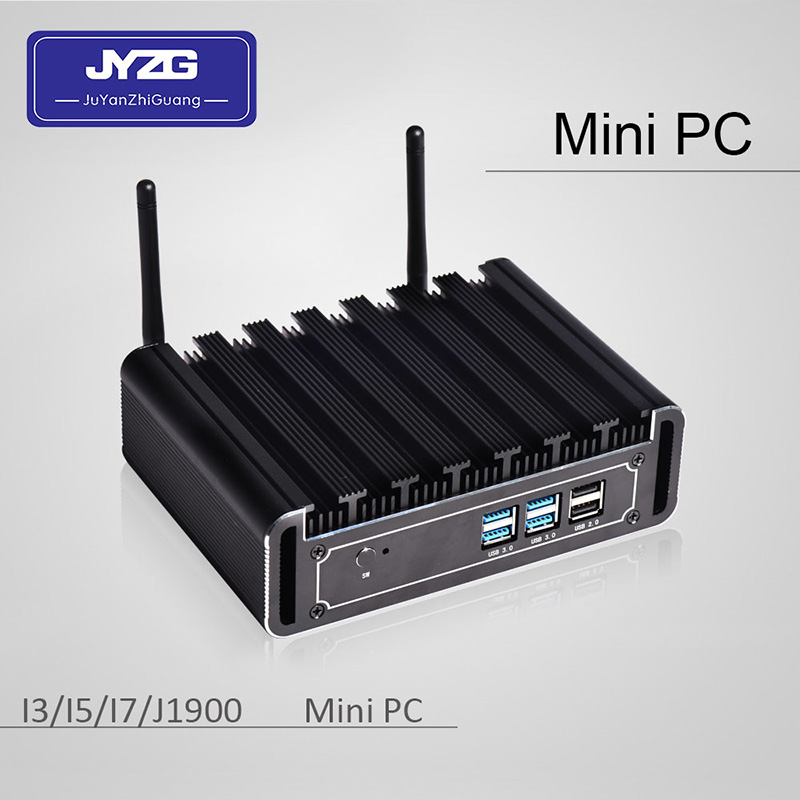 cheap Intel mini pc J1900 quad core fanless 12v 7*24 hour 1000M LAN ubuntu mini pc windows10