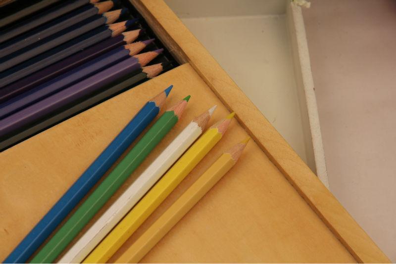 60 Colors Colored Pencils/ Natural Wooden Made Pencil Box /senior ...
