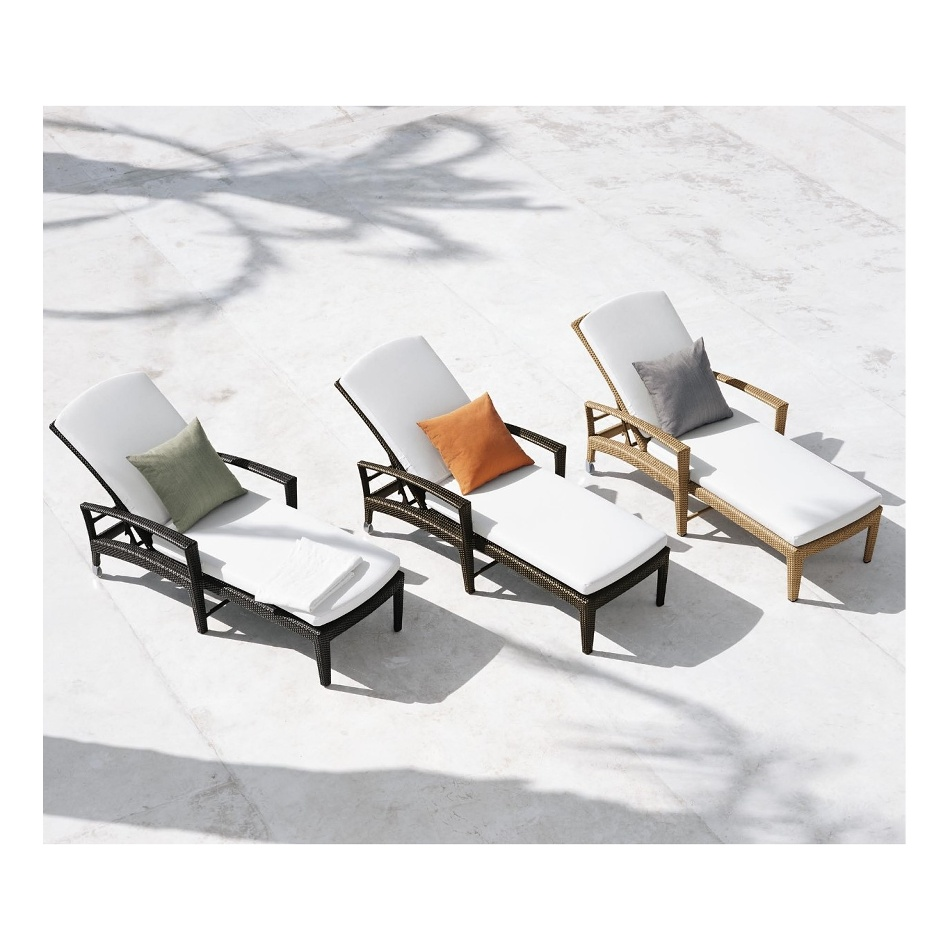 Outdoor family recliner chaise lounge pool chair with cushions