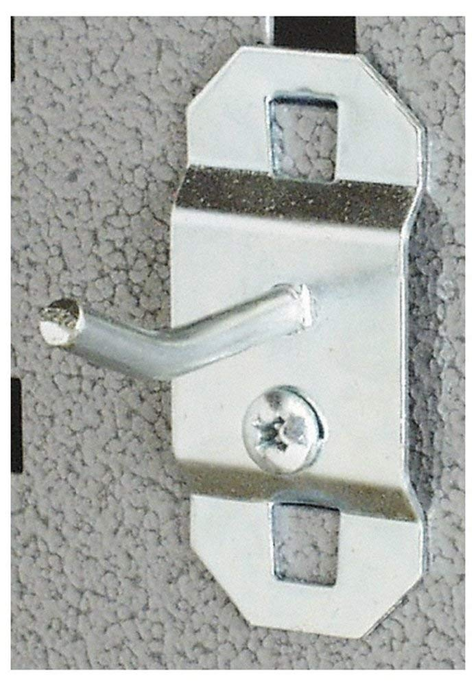"""3/16"""" Diam, 1/2"""" Long, Single Angled End Pegboard Hood, 1-3/8"""" Projection, 30 Bend Angle, 19/64"""" Bend Length, Steel (5 Pack)"""