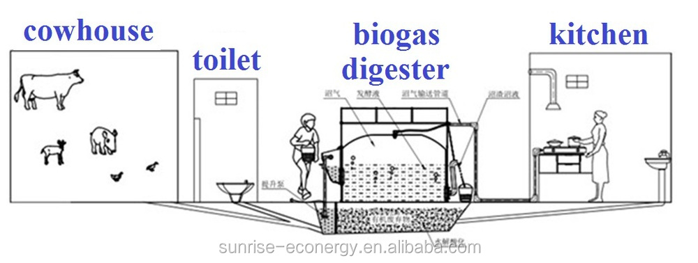 Delightful Sunrise Assembly Portable Mini Biogas Plant For Houses Kitchen Garbage Part 15