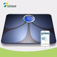 OEM digital bathroom body fat weighing bone density smart bluetooth analyzing scale