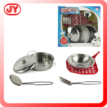 Promotional Stainless Steel Kids Cooking Play Set Kitchen Toy