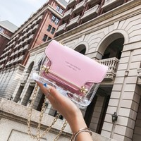 zm31183c 2019 new PVC women bag waterproof cross - shoulder bag fashion women's jelly bag